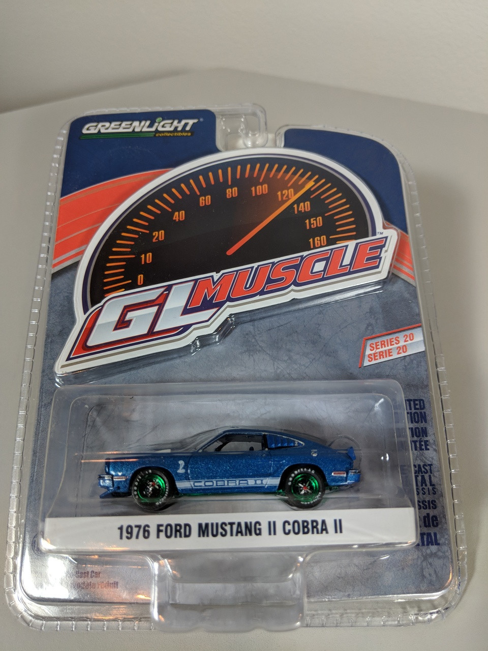 Greenlight Collectibles 1:18 1976 bluemetallic FORD Mustang II Mach I