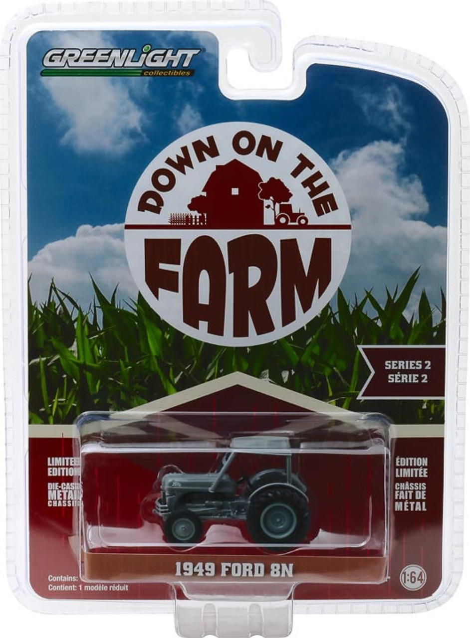 1 64 Down On The Farm Series 2 1949 Ford 8n Tractor Grey With Cab Town And Country Toys