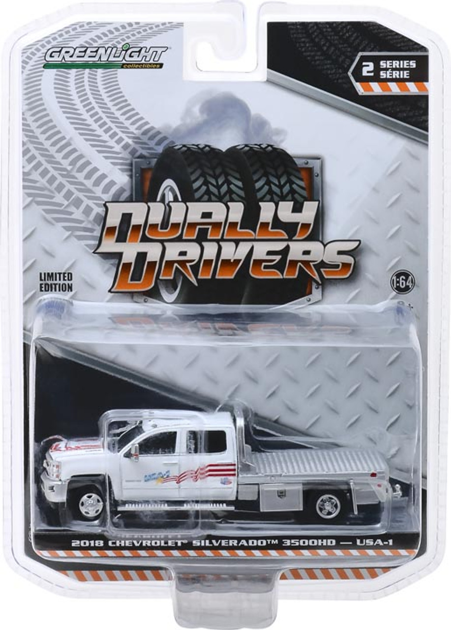 1 64 Dually Drivers Series 2 2018 Chevrolet Silverado 3500 Dually Flatbed Usa 1 Town And Country Toys