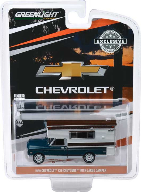 1:64 1969 Chevrolet C10 Cheyenne with Large Camper (Hobby Exclusive)