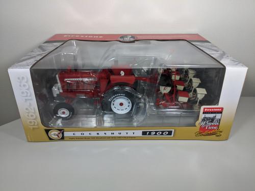 1:16 Cockshutt 1900 Wheatland Diesel Tractor with White 5400 4 Row Corn Planter, Firestone Wheels of Time Edition