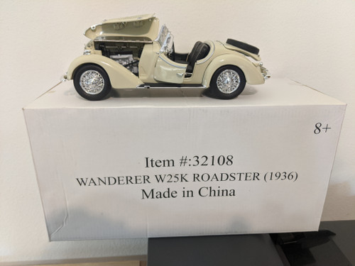 1:18  1936 Wanderer W25K Roadster Convertible, Ivory by Ricko