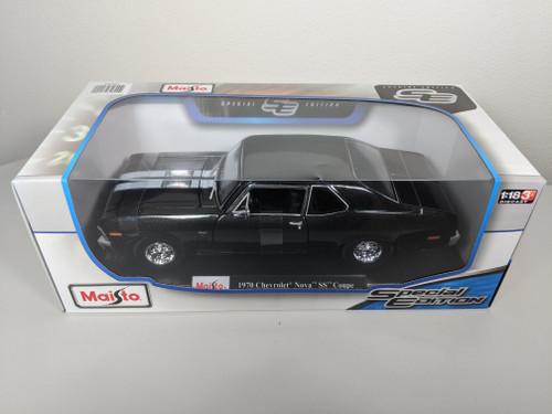 1:18 1970 Chevrolet Nova SS Coupe, Black Metallic Special Edition by Maisto