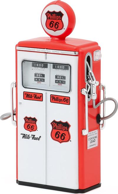 1:18 Vintage Gas Pumps Series 8 - 1954 Tokheim 350 Twin Gas Pump Phillips 66 Flite-Fuel Sixty-Six