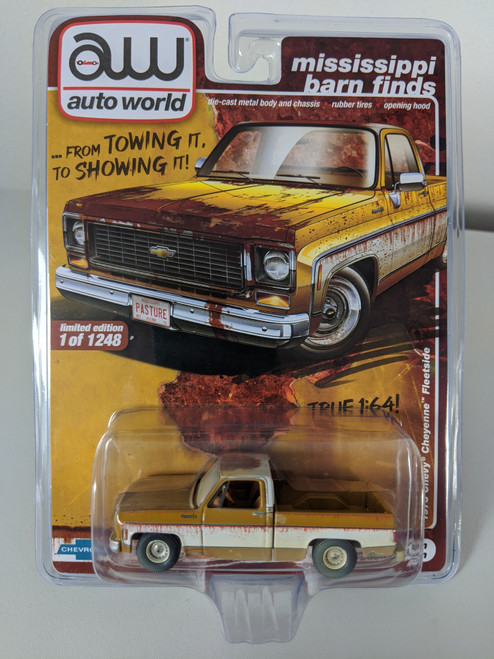 1:64 1973 Chevy Cheyenne Fleetside Mississippi Barn Find, Square Body, AWCollector / Surplusgoodies Exclusive
