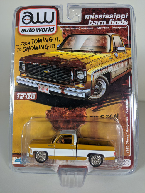 1:64 1973 Chevy Cheyenne Fleetside Mississippi Barn Find, Square Body, Restored, AWCollector / Surplusgoodies Exclusive