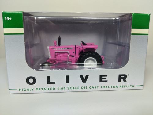 1:64 Pink Oliver 1755 Diesel Tractor with Wide Front by SpecCast