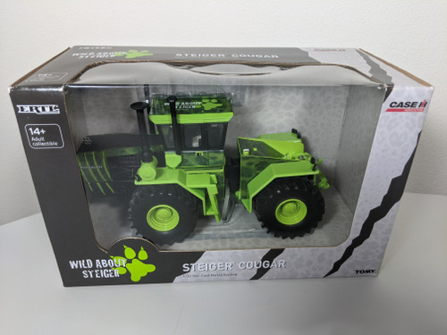 """1:32 Steiger Couger 4WD tractor with Special Cougar Deco """"Wild About Steiger"""" by Ertl"""