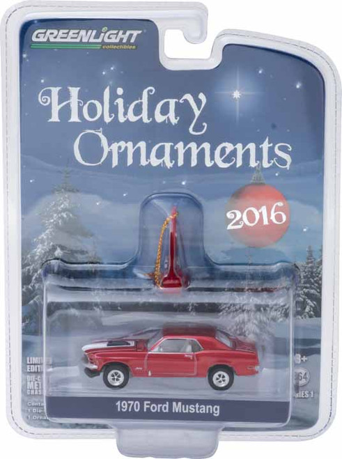 1:64 GreenLight 2016 5 of 6 Holiday Ornaments Series 1 - 1970 Ford Mustang