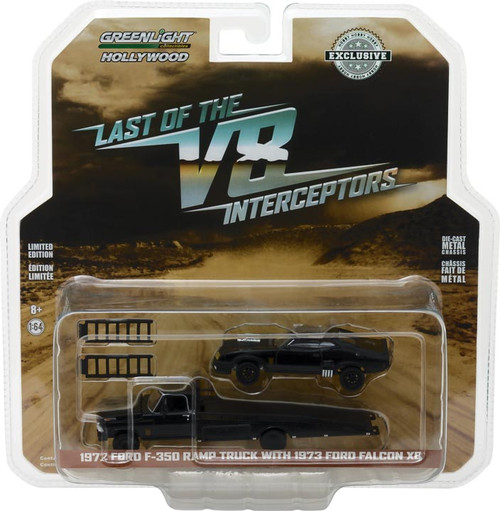 1:64 1972 Ford F-350 Ramp Truck with Last of the V8 Interceptors (1979) 1973 Ford Falcon XB (Hobby Exclusive)