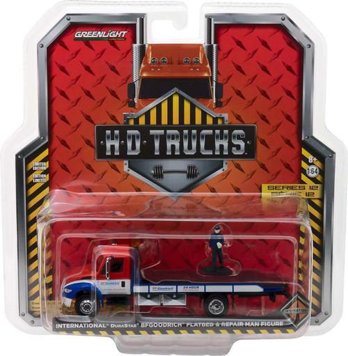 1:64 H.D. Trucks Series 12 - 2013 International Durastar Flatbed BFGoodrich 24-Hour Tire Service with Repair Man Figure