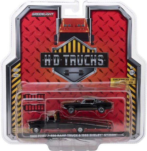 1:64 H.D. Trucks Series 13 - 1968 Ford F-350 Ramp Truck with 1966 Shelby Mustang GT350H
