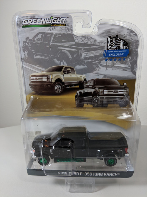 1:64 2018 F-350 King Ranch Dually PKUP - Shadow Black Green Machine