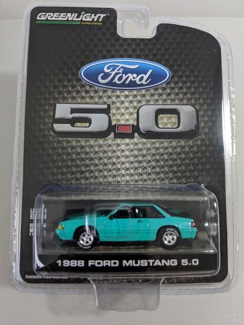 1:64 1988 Mustang 5.0 Coupe Foxbody In Calypso Green, LBE Exclusive Series 3