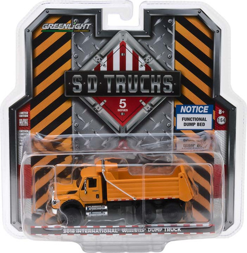 1:64 S.D. Trucks Series 5 - 2018 International WorkStar Construction Dump Truck - Orange