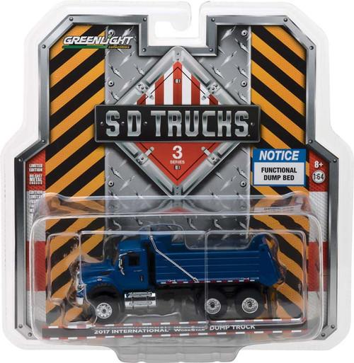 1:64 S.D. Trucks Series 3 - 2017 International WorkStar Construction Dump Truck - Blue