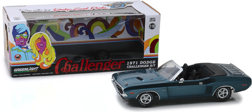 1:18 1971 Dodge Challenger R/T Convertible with Luggage Rack - A8 Gunmetal Gray Poly