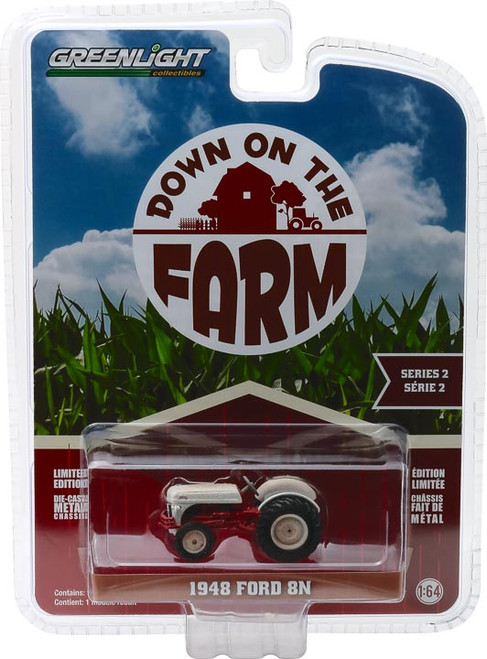 "1:64 Down on the Farm Series 2 - 1948 Ford 8N Tractor - White and Red ""Weathered"""