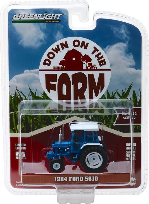 1:64 Down on the Farm Series 2 - 1984 Ford 5610 Tractor - Blue and Black with Cab