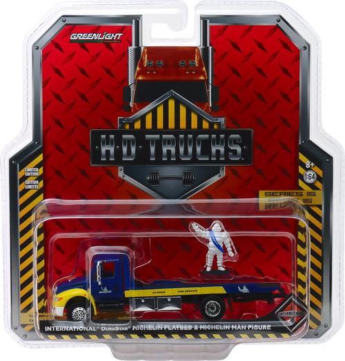 1:64 H.D. Trucks Series 15 - 2013 International Durastar Flatbed - Michelin Service Center with Michelin Man Figure