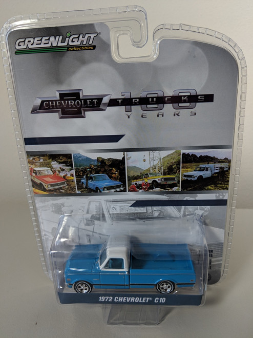 1:64 Anniversary Collection Series 7 - 1972 Chevrolet C-10 100th Anniversary of Chevy Trucks