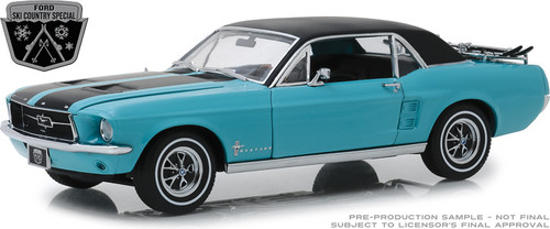 "1:18 1967 Ford Mustang Coupe ""Ski Country Special"" - Winter Park Turquoise"