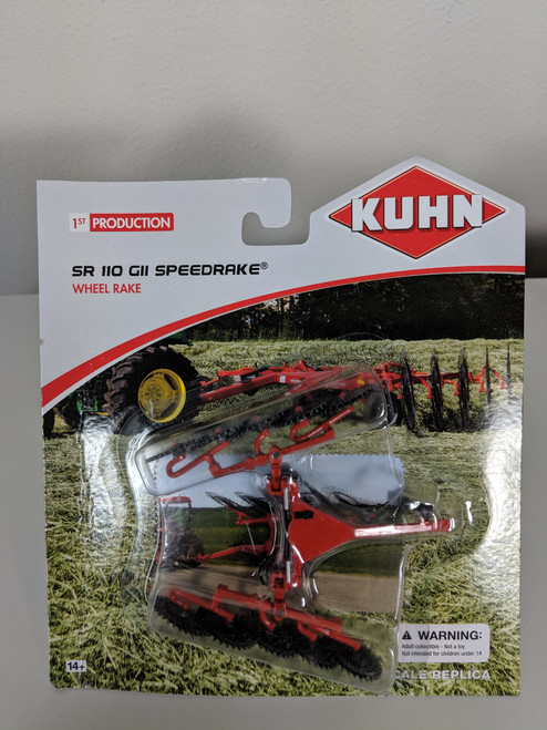 1:64 Kuhn SR 110 GII Speedrake (Wheel Rake with Folding Rake Beams)