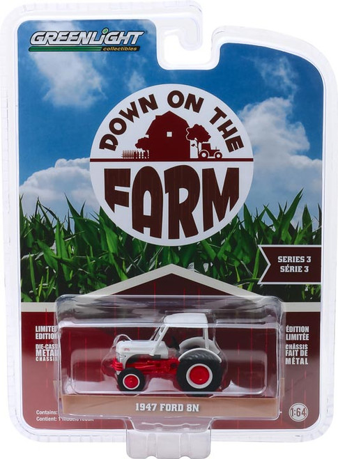1:64 Down on the Farm Series 3 - 1947 Ford 8N Tractor with Canopy - White and Red
