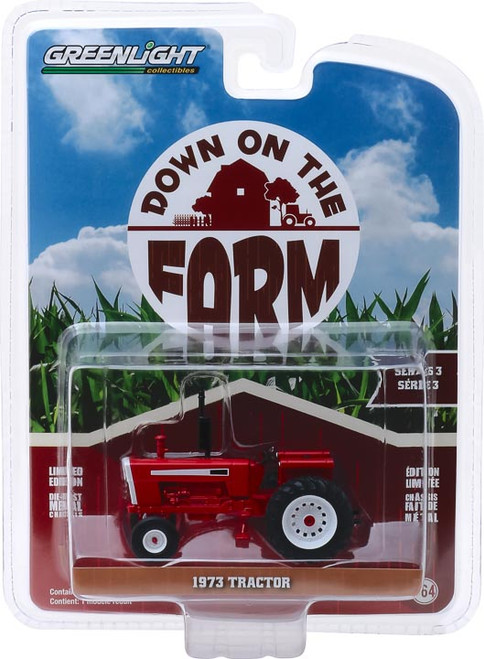 1:64 Down on the Farm Series 3 - 1973 Tractor - Red