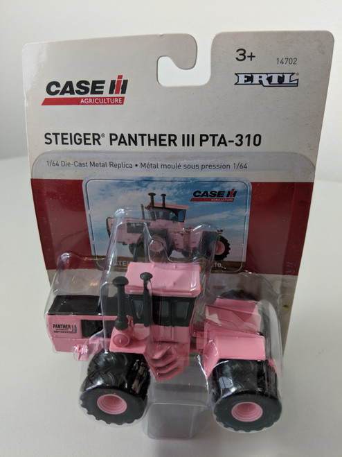 1/64 Steiger Panther III PTA-310 4WD tractor, Pink,  with Dual Wheels