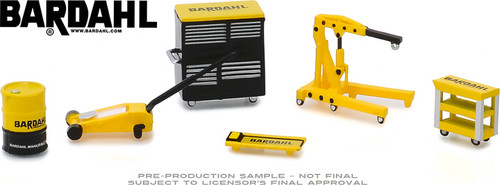 1:64 Auto Body Shop - Shop Tool Accessories Series 1 - Bardahl 6 Piece Set