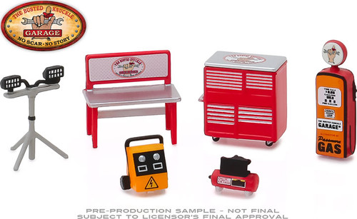 1:64 Auto Body Shop - Shop Tool Accessories Series 1 - Busted Knuckle Garage 6 Piece Set