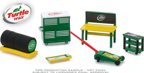 1:64 Auto Body Shop - Shop Tool Accessories Series 1 - Turtle Wax