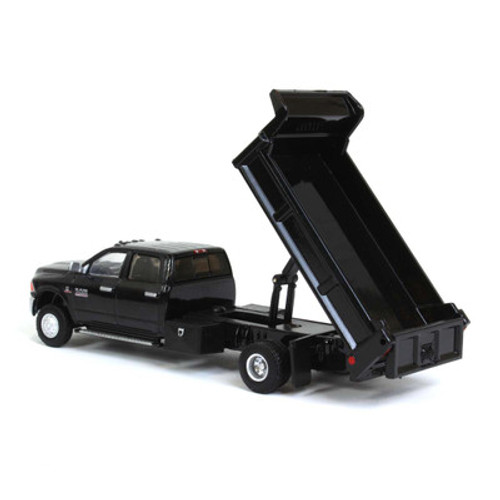 1:64 2018 Ram 3500 Laramie Dually, Black Crystal With Black Dump Bed, Outback Exclusive