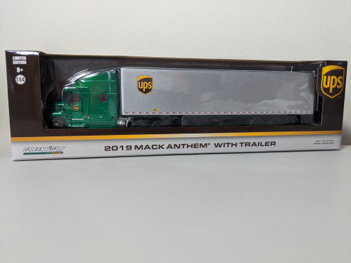 1:64 2019 Mack Anthem 18 Wheeler Tractor-Trailer - United Parcel Service (UPS) Freight (Hobby Exclusive) Green Machine
