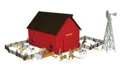 1:64 Ertl Farm Country Western Barn 65 Piece Play Set