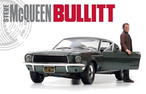 1:18 Bullitt (1968) - 1968 Ford Mustang GT Fastback - Highland Green (with Steve McQueen figure)