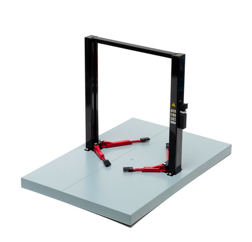 1:18 Two-Post Lift - Black with Red Platforms