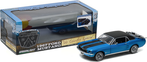 "1:18 1967 Ford Mustang Coupe ""Ski Country Special"" - Vail Blue"