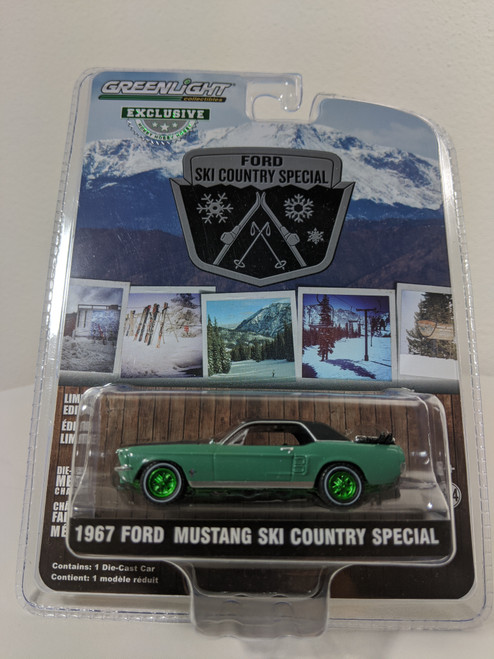 """1:64 1967 Ford Mustang Coupe """"Ski Country Special"""" - Loveland Green (Hobby Exclusive) Green Machine"""