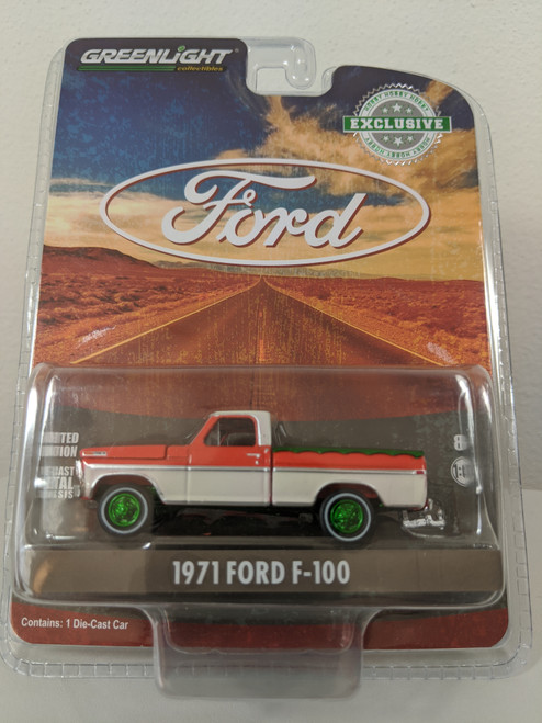 1:64 1971 Ford F-100 with Bed Cover (Hobby Exclusive) Green Machine