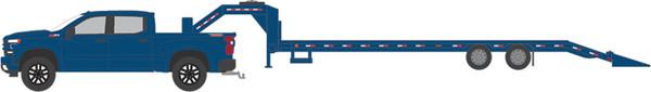 1:64 Hitch & Tow Series 18 - 2019 Chevrolet Silverado 1500 LT Trail Boss and Gooseneck Trailer