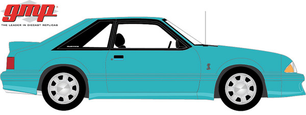 1:18 GMP 1993 Ford Mustang Cobra - Teal with Black Interior (Fox Body)