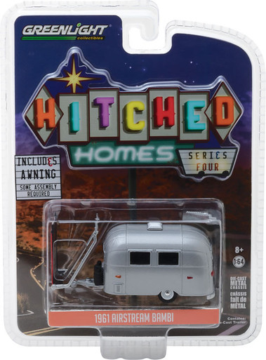 1961 Airstream Bambi Trailer Wohnwagen Metal *** Greenlight Homes 1:64 NEU