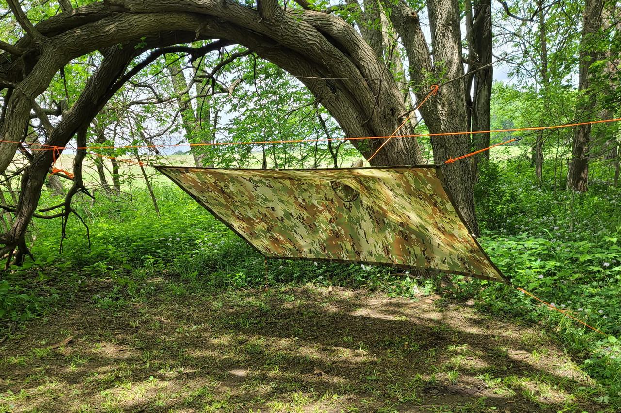 KoreTemp Poncho shelter setup B