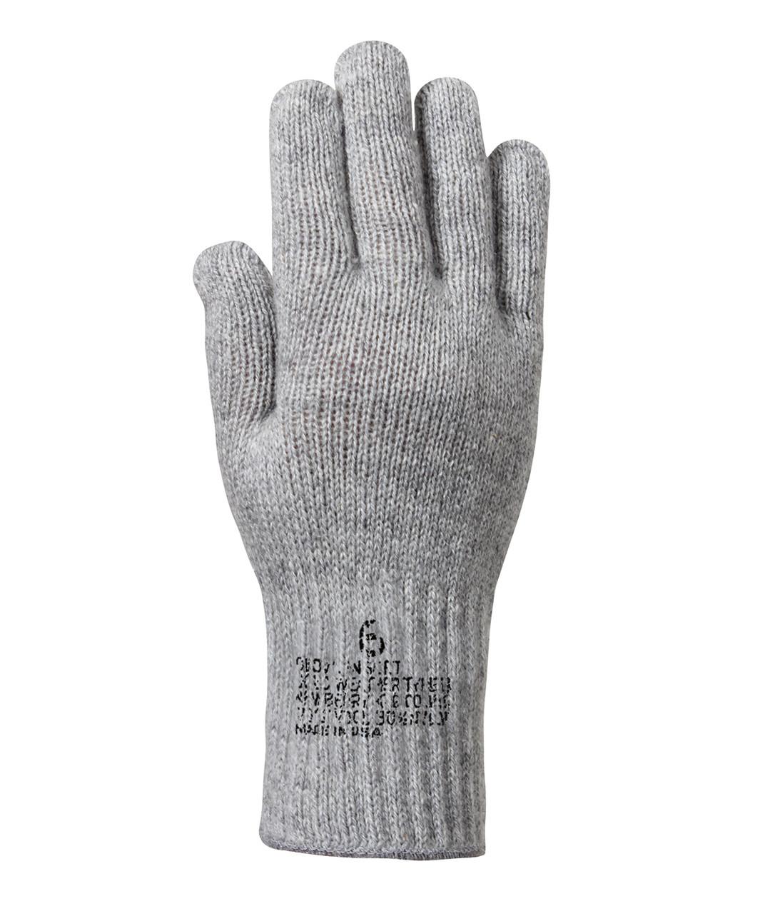 G.I. Wool Glove Liners (Grey)