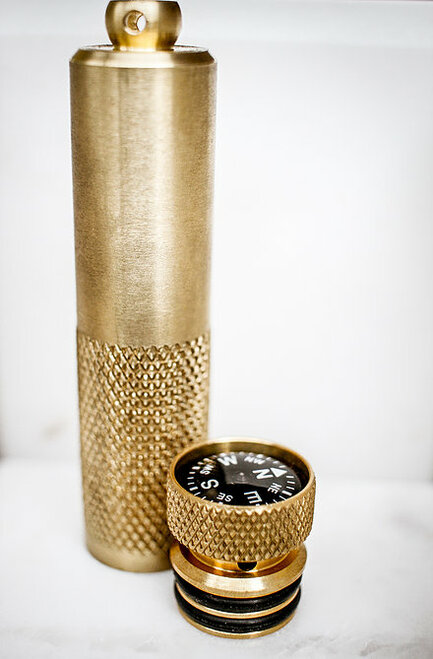 K&M Brass Match Case (Long)