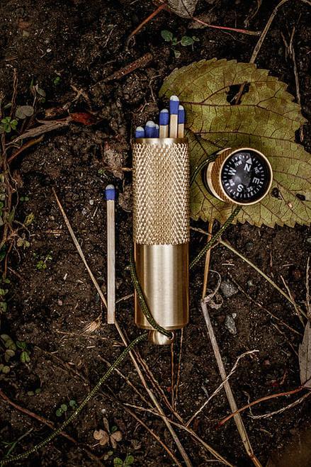 K&M Brass Match Case (Standard)