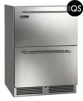 Perlick C-Series 24 Inch Outdoor Refrigerator Drawers HC24RO35-DL