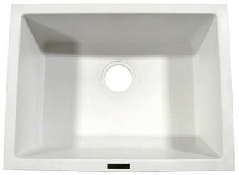 Ukinox Single Bowl Sink, GUN2418WH (White)